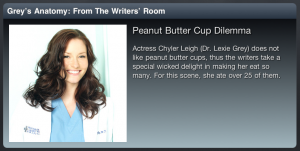 Greys Anatomy Sync App Episode 2 Peanut Butter Trivia