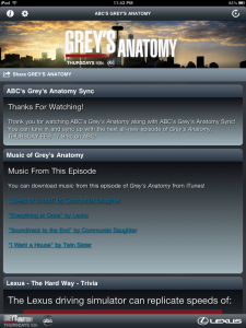 Grey's Anatomy Sync App Episode 2 Closing Modules