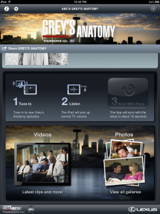 Greys Anatomy iPad Sync App