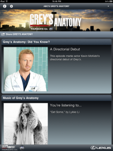 Vertical Orientation for the Grey's Anatomy iPad Sync App
