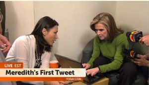 NBC Today Show Simulcast Meredith Vieira First Tweet