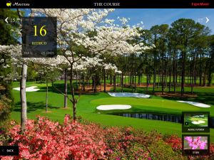 Masters 2011 iPad App Hole Profile