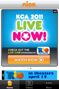 Nickelodeon Kids&#039; Choice Awards 2011 Live Now Screen