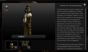 HBO GO Interactive 3D Virtual Armor