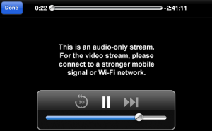 HBO GO Audio Only Stream