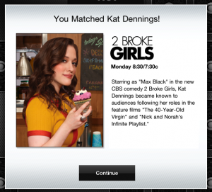 CBS Fall Preview App 2011 Kat Dennings