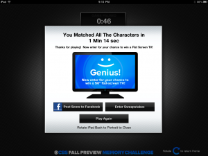 CBS Fall Preview 2011 Sweepstakes Promo