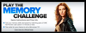 CBS FAll Preview App Memory Challenge Header