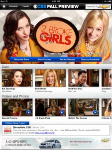 CBS Fall Preview App 2011 2 Broke Girls
